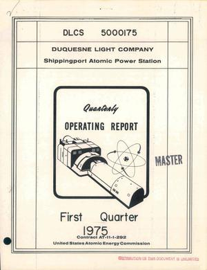 Primary view of object titled 'Quarterly operating report. First quarter, 1975'.