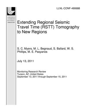 Primary view of object titled 'Extending Regional Seismic Travel Time (RSTT) Tomography to New Regions'.