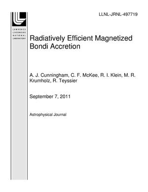 Primary view of object titled 'Radiatively Efficient Magnetized Bondi Accretion'.