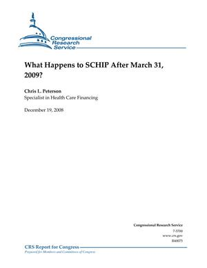 What Happens to SCHIP After March 31, 2009?