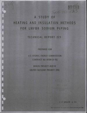 Primary view of object titled 'A Study of Heating and Insulation Methods for LMFBR Sodium Piping.'.