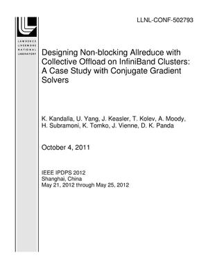 Primary view of object titled 'Designing Non-blocking Allreduce with Collective Offload on InfiniBand Clusters: A Case Study with Conjugate Gradient Solvers'.