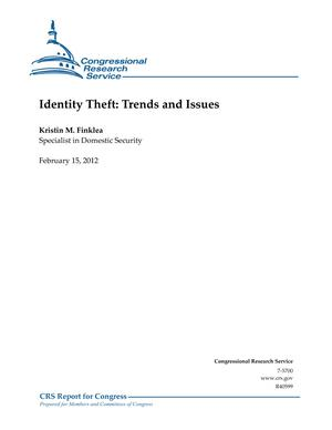 Identity Theft: Trends and Issues