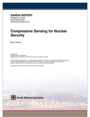 Primary view of object titled 'Compressive sensing for nuclear security.'.
