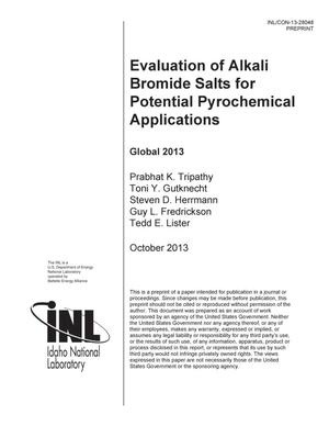 Primary view of object titled 'Evaluation of Alkali Bromide Salts for Potential Pyrochemical Applications'.