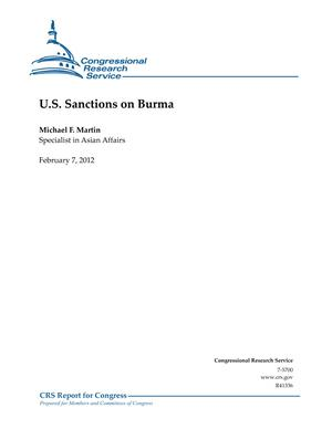 U.S. Sanctions on Burma