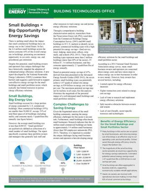 Primary view of object titled 'Small Buildings = Big Opportunity for Energy Savings (Fact Sheet)'.