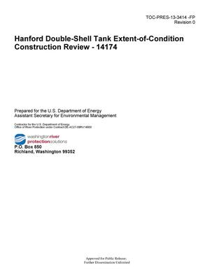 Primary view of object titled 'Hanford Double-Shell Tank Extent-of-Condition Construction Review - 14174'.