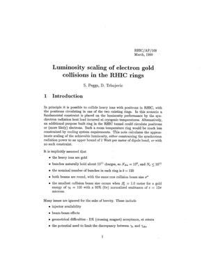 Primary view of object titled 'Luminosity Scaling of Electron Gold Collisions in the RHIC Rings'.