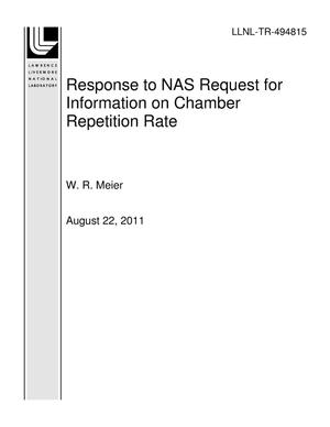 Primary view of object titled 'Response to NAS Request for Information on Chamber Repetition Rate'.