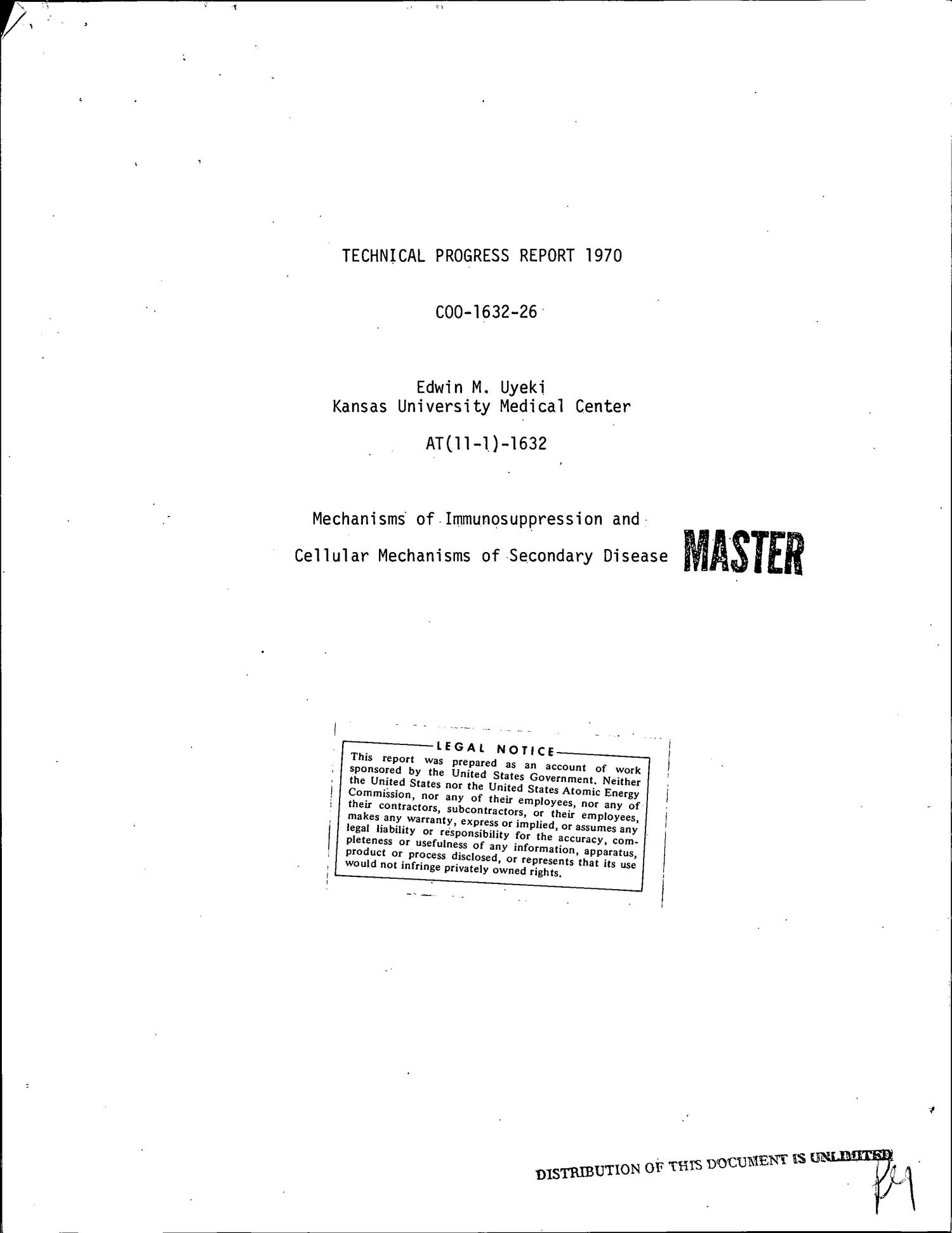 Mechanisms of Immunosuppression and Cellular Mechanisms of Secondary Disease. Technical Progress Report, 1970.                                                                                                      [Sequence #]: 1 of 16