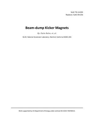 Primary view of object titled 'Beam-dump Kicker Magnets'.