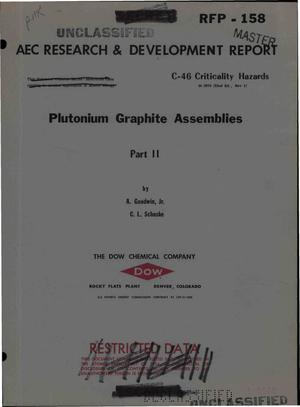 Primary view of object titled 'PLUTONIUM GRAPHITE ASSEMBLIES--PART II'.