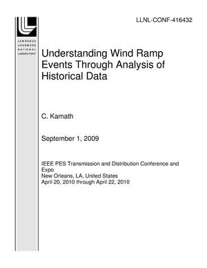 Primary view of object titled 'Understanding Wind Ramp Events Through Analysis of Historical Data'.