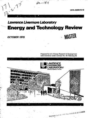 Primary view of object titled 'Lawrence Livermore Laboratory energy and technology review'.