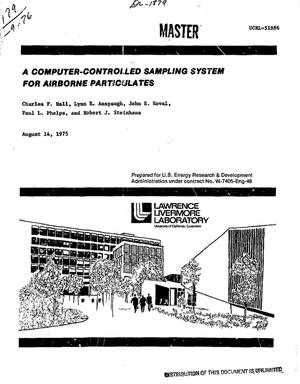 Primary view of object titled 'Computer-controlled sampling system for airborne particulates'.
