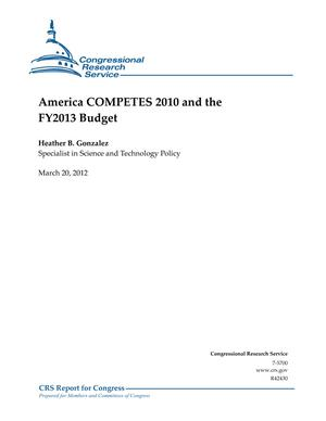 America COMPETES 2010 and the FY2013 Budget