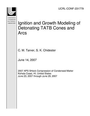 Primary view of object titled 'Ignition and Growth Modeling of Detonating TATB Cones and Arcs'.