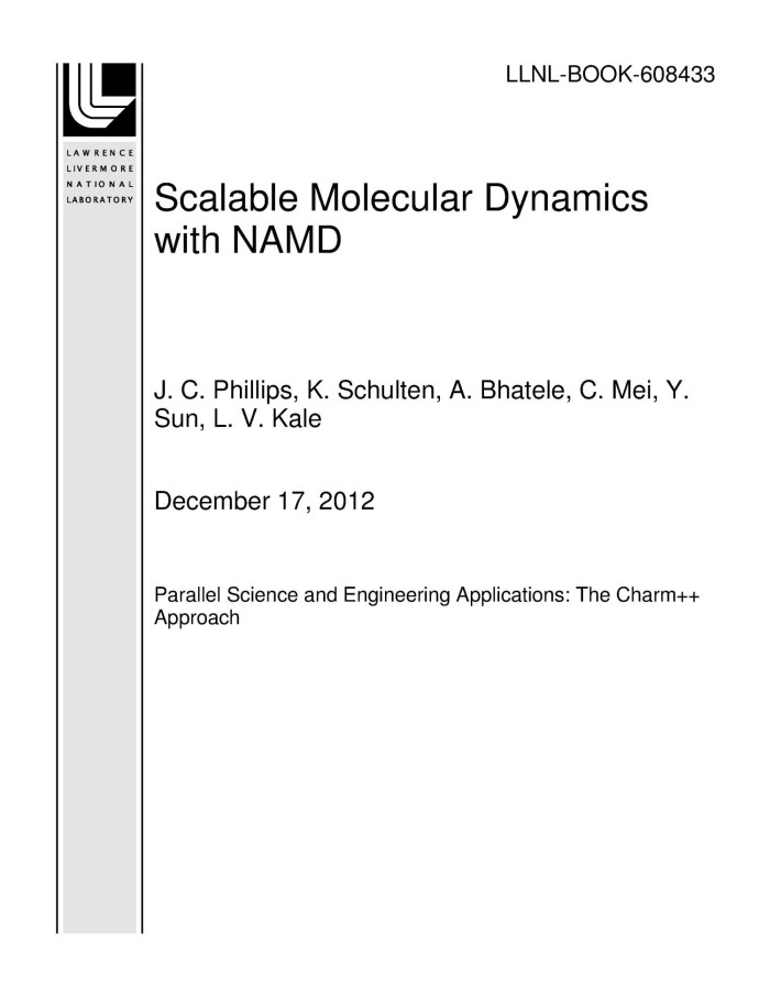 Scalable Molecular Dynamics with NAMD - Digital Library