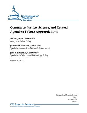 Commerce, Justice, Science, and Related Agencies: FY2013 Appropriations