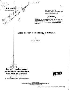 Primary view of object titled 'Cross-section methodology in SIMMER'.