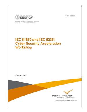 Primary view of object titled 'IEC 61850 and IEC 62351 Cyber Security Acceleration Workshop'.