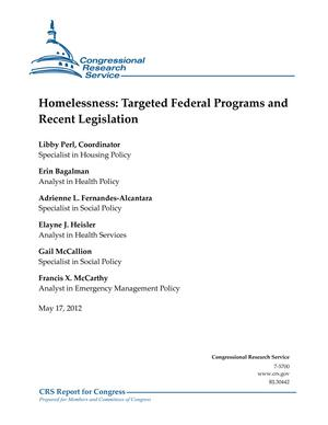 Homelessness: Targeted Federal Programs and Recent Legislation