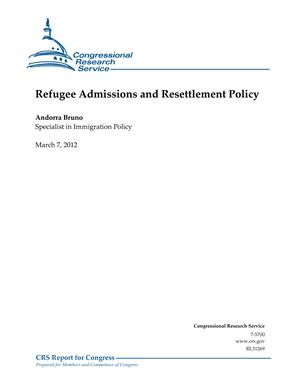 Refugee Admissions and Resettlement Policy