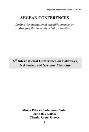 Primary view of object titled 'Pathways, Networks and Systems Medicine Conferences'.