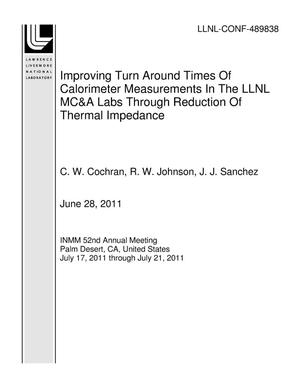 Primary view of object titled 'Improving Turn Around Times Of Calorimeter Measurements In The LLNL MC&A Labs Through Reduction Of Thermal Impedance'.