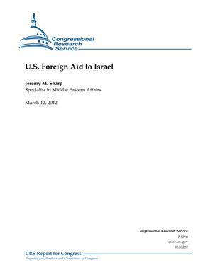 U.S. Foreign Aid to Israel