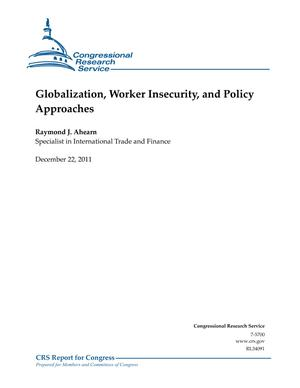 Globalization, Worker Insecurity, and Policy Approaches