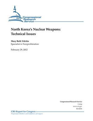 North Korea's Nuclear Weapons: Technical Issues
