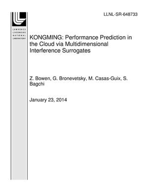 Primary view of object titled 'KONGMING: Performance Prediction in the Cloud via Multidimensional Interference Surrogates'.