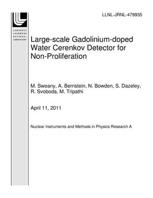 Primary view of object titled 'Large-scale Gadolinium-doped Water Cerenkov Detector for Non-Proliferation'.