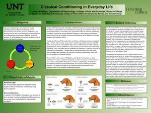 Primary view of object titled 'Classical Conditioning in Everyday Life'.