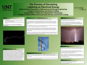 The Process of Harvesting Lightning as Electrical Energy