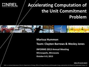 Primary view of object titled 'Accelerating Computation of the Unit Commitment Problem (Presentation)'.