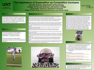 Primary view of object titled 'The Importance of Superstition as Competition Increases'.