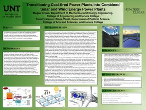 Transitioning Coal-fired Power Plants into Combined Solar and Wind Energy Power Plants
