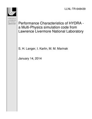 Primary view of object titled 'Performance Characteristics of HYDRA - a Multi-Physics simulation code from Lawrence Livermore National Laboratory'.