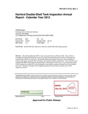 Primary view of object titled 'Hanford Double-Shell Tank Inspection Annual Report Calendar Year 2012'.
