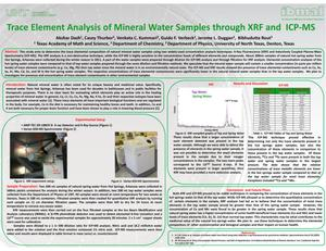 Primary view of object titled 'Trace Element Analysis of Mineral Water Samples through XRF and ICP-MS'.