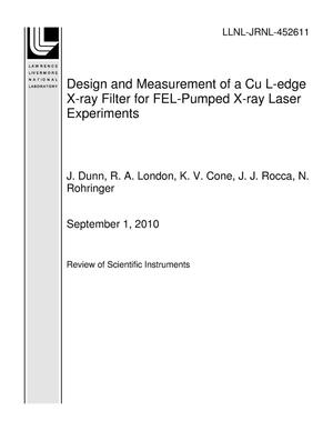Primary view of object titled 'Design and Measurement of a Cu L-edge X-ray Filter for FEL-Pumped X-ray Laser Experiments'.
