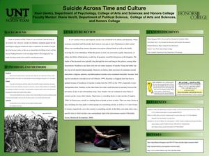 Primary view of object titled 'Suicide Across Time and Culture'.
