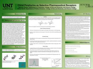 Primary view of object titled 'Chiral Porphyrins as Selective Pharmaceutical Receptors'.