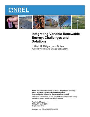 Primary view of object titled 'Integrating Variable Renewable Energy: Challenges and Solutions'.