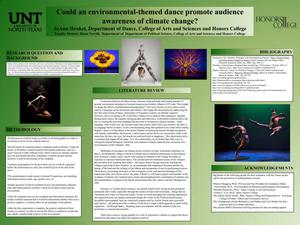 Primary view of object titled 'Could an environmental-themed dance promote audience awareness of climate change?'.