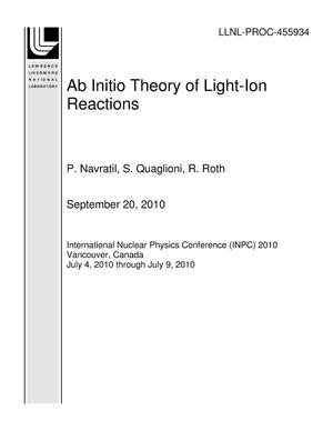 Primary view of object titled 'Ab Initio Theory of Light-Ion Reactions'.