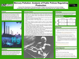 Primary view of object titled 'Mercury Pollution: Analysis of Public Policies Regulating Production'.